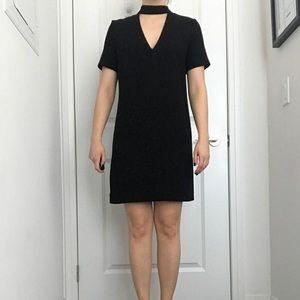 Zara Black Dress - neck cutout